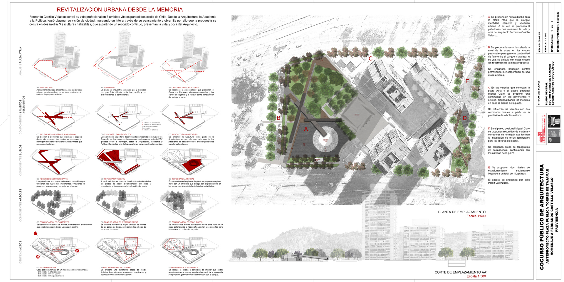 Plaza fcv for Plan de arquitectura